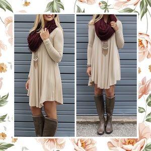 Dresses & Skirts - SHILOH BOHO LOOSE LONG SLEEVE T SHIRT DRESS FLOWY